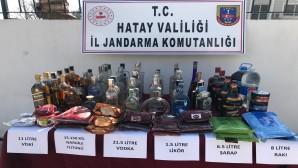 El yapımı 8 litre rakı, 21.5 litre votka ile 11 litre viski yakalandı
