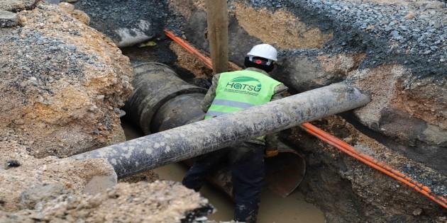 HAT SU: Antakya'daki içme suyu çalışmaları sürüyor
