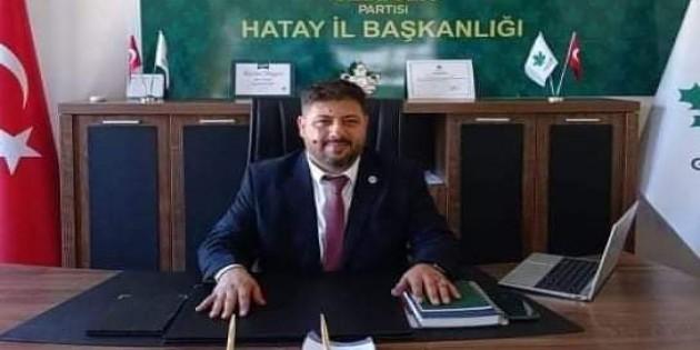 Gelecek Partisi Hatay Kurucu Başkanı Ahmet Bilgin istifa etti