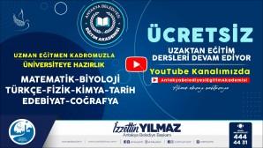 Antakya Belediyesi'nden Youtube kanalından öğrencilere kurs desteği