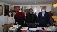 Saadet Partisi Hatay Kadın Kolları Başkanı Seda Çiçek'ten Dörtyol Gazeteciler cemiyetine ziyaret