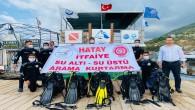 Hatay Büyükşehir Belediyesi  su altı ve su üstü arama kurtarma ekibi kurdu