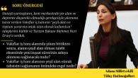Hatay asıllı HDP Adana Milletvekili  Tulay Hatimoğulları Oruç vakıf İşhanı konusunu TBMM'ye taşıdı