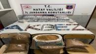 Jandarma Hassa'da 843 gümrük kaçağı sigara ile 13 kilo kaçak tütün yakaladı