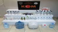 Antakya'da 26 şişe gümrük kaçağı 24 kilo Boğma rakı ele geçirildi
