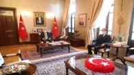 Vali Rahmi Doğan Yayladığı yeni Belediye Başkanı Mehmet Yalçın'ı kabul etti