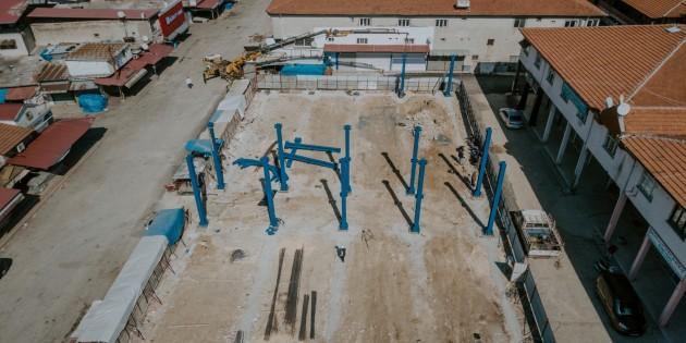 Antakya Belediyesi, eski Çukobirlik Pazar yerini yeniden inşa ediyor