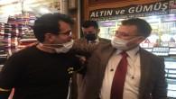 DEVA Partisi Antakya ilçe Başkanı Uğur Çakılı esnaf ziyaretinde