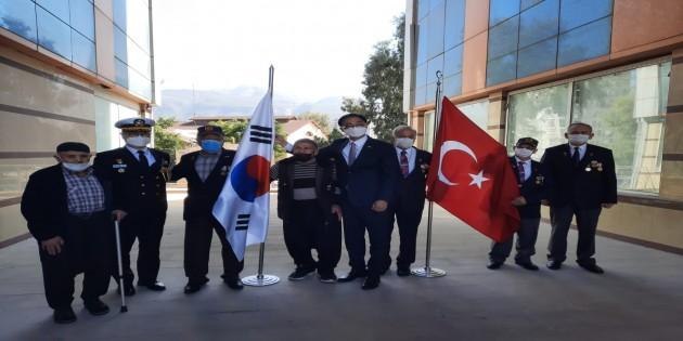 Muharip Gazilere Güney Kore'den misafir var