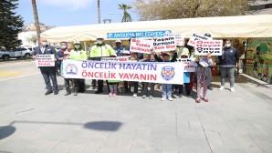 """Hatay Büyükşehir Belediyesi, """"Yayalar kırmızı çizgimizdir"""" uygulamasını başlattı!"""