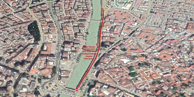 İzzet Güçlü caddesi ile Ata köprüsü arasındaki yol yarın trafiğe kapatılacak