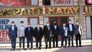 Hatay Saadet'ten Ak Parti İl Başkanı Adem Yeşildal'a hayırlı olsun ziyareti