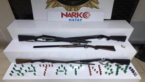 Antakya Narlıcı'da bir evde 5 Tüfek yakalandı