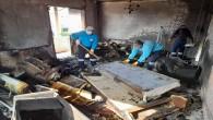 Antakya Serinyol'da ikiz yavruların ardından hüzünlü temizlik