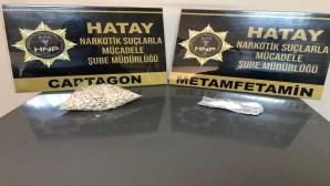 Antakya ve Reyhanlı'da 1355 adet captagon ile 32.80 gram esrar yakalandı