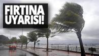 Meteoroloji'den Hatay için fırtına uyarısı!