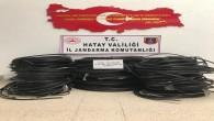 Arsuz'daki Türk Telekom kablolarını çalan hırsızlar tutuklandı