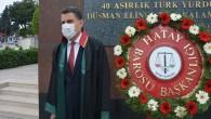Hatay Barosu'ndan Atatürk anıtına çelenk