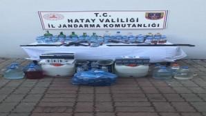Jandarma'dan Kırıkhan ilçesinde Kaçak içki ve sigara operasyonu