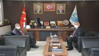 Mustafa  Kemal Üniversitesi Rektörü Kaya'dan Başkan Yılmaz'a ziyaret