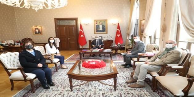 Vali Rahmi Doğan Birleşmiş Milletler Mülteciler Yüksek Komiserliği Türkiye Temsilcisini Kabul Etti