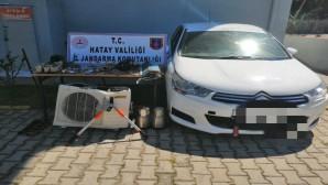 Jandarma Belen ilçesinde Öğretmenevinin  Klimalarını çalan 3 kişiyi yakaladı
