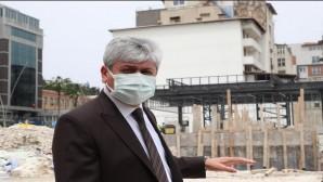 Hatay Valisi Rahmi Doğan Meclis Binası ve Adalı Konağı'nda incelemelerde bulundu.