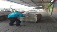 Antakya Belediyesi çöp konteynerlerinde onarım ve boyama çalışmalarını sürdürüyor