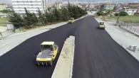 Hatay Büyükşehir Belediyesi Antakya Dönel katlı kavşak'ı asfaltlıyor