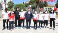 Başkan savaş 19 Mayıs Çelenk koyma törenine katıldı