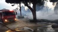 Hatay Büyükşehir belediyesi, Antakya'daki yangına anında müdahale etti