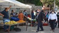 Antakya Belediye Başkanı İzzettin Yılmaz ve Antakya Kaymakamı Mustafa Harputlu Semt Pazarında İncelemelerde Bulundu