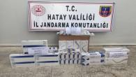 Jandarma Defne Sinanlı'da 542 paket bandrolsüz sigara yakaladı