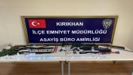 Kırıkhan'da uyuşturucu ve silah operasyonu: 8 gözaltı