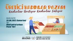 Samandağ Belediyesi'nden üretici Kadınlar Pazarı projesi