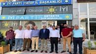 Samandağ Belediye Başkanı Refik Eryılmaz'dan İyi Parti İl Başkanı Şefik Çirkin'e ziyaret