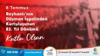 Başkan Lütfü  Savaş Reyhanlı'nın Düşman işgalinden kurtuluşunu kutladı