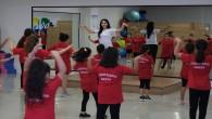 Çocuklar hem eğleniyor, hem de spor yapıyor!