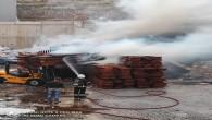 Hatay Büyükşehir  Belediyesi İtfaiyesi Yeni Mobilyacılar sitesindeki yangına hızla müdahale etti