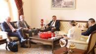Norveç Ankara Büyükelçisi Vegard Ellefsen'den Hatay Büyükşehir Belediyesine ziyaret