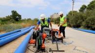 HAT SU: Samandağ'da terfi hattı çalışmalarına başlandı