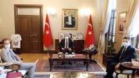 Avrupa Birliği  Komisyonu Üyesi Lenarcic'den Vali Rahmi Doğan'a Ziyaret