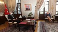 Vali Rahmi Doğan, UNDP Türkiye Mukim Temsilcisi   Louisa Vinton'u  Kabul Etti