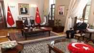 Vali Rahmi Doğan Yayladağı Belediye Baş kanı Mehmet Yalçın'ı kabul etti