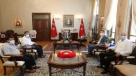 CHP Antakya İlçe Başkanı Ümit Kutlu'dan Vali Rahmi Doğan'a ziyaret
