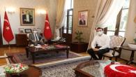 Vali Rahmi Doğan Şehit Uzman Çavuş Mustafa Duman'ın oğlunu kabul etti