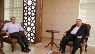 AKP Milletvekili Hüseyin Yayman, Saadet Partili Necmettin Çalışkan'ı ziyaret etti