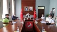 Vali Rahmi Doğan Normalleşme süreciyle ilgili video konferans sistemiyle yapılan toplantıya katıldı