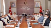 """Vali Rahmi Doğan """"Harbiye Şelaleleri Bölgesi Mekansal Düzenlemesi ve Su Yönetimi Projesi"""" Toplantısına başkanlık etti"""