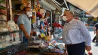 Başkan İzzettin Yılmaz'dan Çarşı esnafı ziyaretine devam